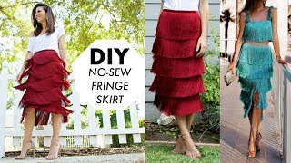DIY: How To Make a NO-SEW Fringe Skirt! (DESIGNER HACK) -By Orly Shani