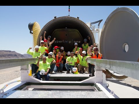 Hyperloop One : le test du prototype XP-1 sur la DevLoop