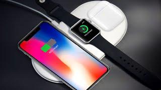 Беспроводные зарядки для iphone 10 и Samsung S9   алиэкспресс обзор