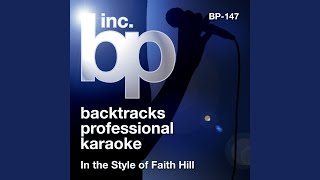 Paris (Karaoke Instrumental Track) (In the Style of Faith Hill)