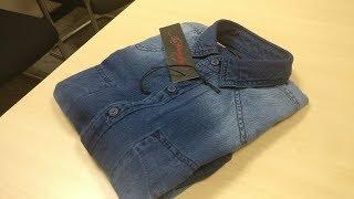 Denim Shirt | Ed Hardy | Navy Blue Men Slim Casual Shirts | Unboxing