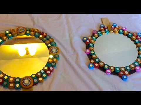 How to Make Newspaper Wallhanging Mirror | BEST FROM WASTE