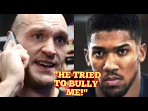 BREAKING! TYSON REVEALS A TENSE PHONE CALL WITH ANTHONY JOSHUA : COUNTERPUNCHED