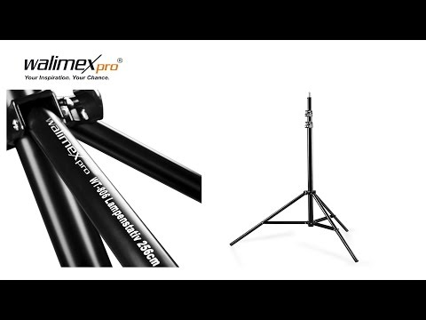 Walimex Pro WT-806 Lampenstativ mit Federdämpfung 98-256 cm