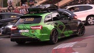 Audi RS6 C7 Avant with Akrapovic - Exhaust SOUNDS in Monaco!