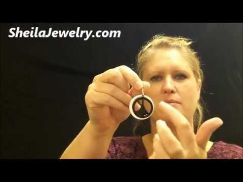 Peace sign earrings peace love hippie jewelry cheap wholesale