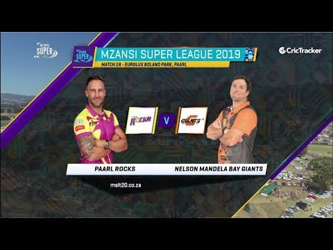 Highlights | Paarl Rocks vs Nelson Mandela Bay Giants | Match 28 | MSL 2019