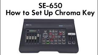Datavideo Tutorials: SE-650 Switcher | Learn How to Set Up Chroma Key