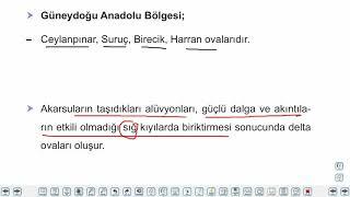 Eğitim Vadisi 10.Sınıf Coğrafya 6.Föy Türkiye'nin Yer Şekilleri 2 Konu Anlatım Videoları
