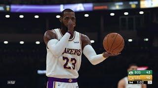 NBA 2K19 - Los Angeles Lakers vs Boston Celtics Full Match   PS4 Pro (4k 60fps)