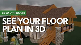 A Log Home Plan In 3D