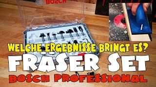 Für deine Oberfräse? Bosch Professional 15tlg. Fräser Set