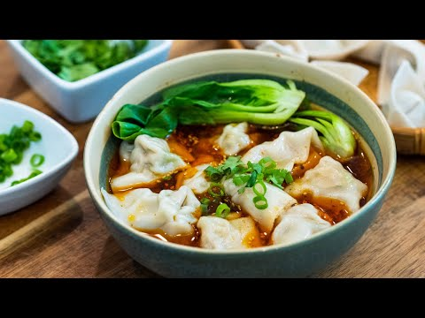 Chicken Wonton Soup With Spicy Chili Oil