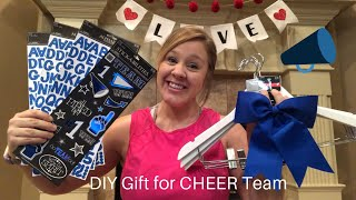 Cute And Easy DIY Gift For A CHEER/Sports Team