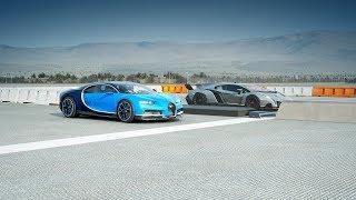 2018 Bugatti CHIRON Vs Lamborghini VENENO Drag Race! Forza 7