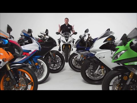 2013-2015 600cc Supersport Mid Weight Shootout! CBR600RR GSX R600 675R  ZX 6R  848  F3  R6