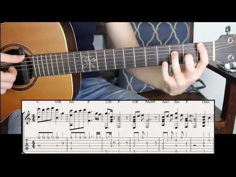 The Most Sentimental Chord Progression in C major I Know | Fingerstyle Guitar Lesson