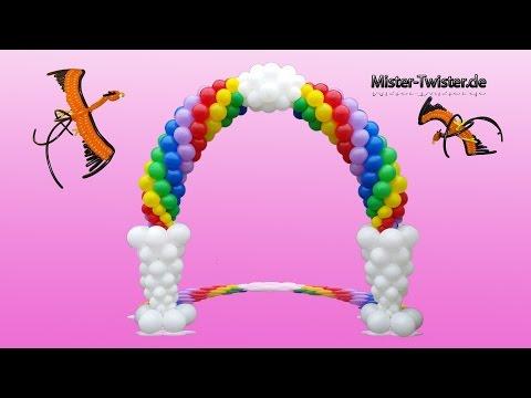 Balloon Rainbow Arch, Decoration, Birthday, Ballon Regenbogen, Ballon Bogen, Dekoration, Geburtstag