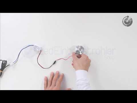 LED Einbaustrahler | Einbauleuchten / Einbaulampen | Flach | Warm Weiß | 3 Watt | Dimmbar