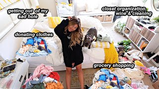 Cleaning my closet for an entire week and getting my life back together