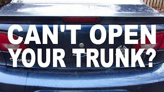 WHAT to DO if your CAR'S TRUNK WON'T OPEN (with the 2000 CHEVY CAVALIER)!
