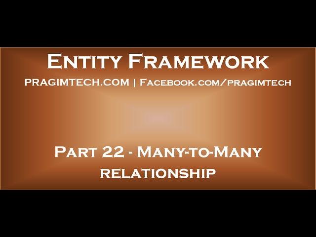entity framework define many to relationship