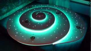 Csiga alakú 3D-s csillagos égbolt RGB LED élvilágítással