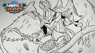 How I Draw Miya A Character Hero Of Mobile Legend Game Bilingual