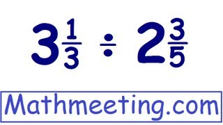 Dividing mixed numbers