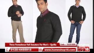 Homeshop18.com - Pack Of Three Formalwear Full Sweaters For Mens - Eprilla