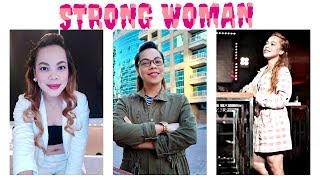 Strong Woman With Cheerful Heart