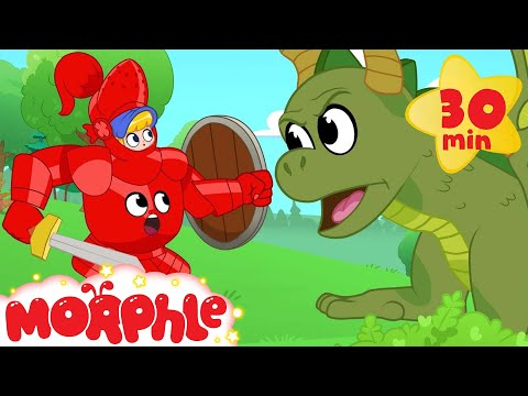 My Magic Knight Armor! Morphle the super Hero becomes a Knight to fight a dragon. (Kids Video)