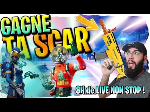 LIVE MAJ FORTNITE FR SKIN NOEL GAGNE TA SCAR  !! GAME ABO PC PS4 xbox switch !
