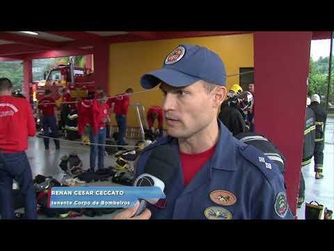 Curso de formação de Bombeiros Militares em Blumenau