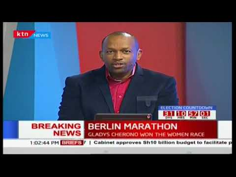 Olympic marathon gold medalist Eliud Kipchoge wins Berlin marathon in a time of 2:03:33