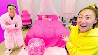 I TURNED EVERYTHING IN HIS ROOM PINK!! (GONE WRONG)