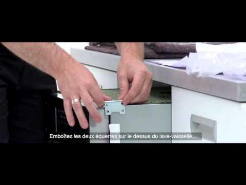 AEG lave vaisselle integrable installation sous le plan de travail