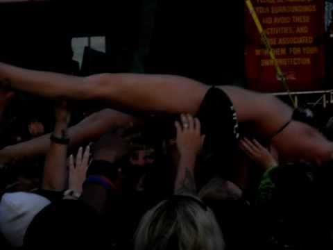 Crowd Surfing in a Bikini 2011 Carolina Rebellion