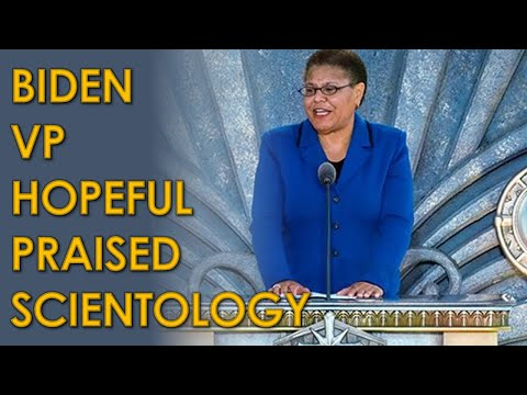 Biden Vice President Running Mate Favorite Karen Bass Praised Scientology and L. Ron Hubbard