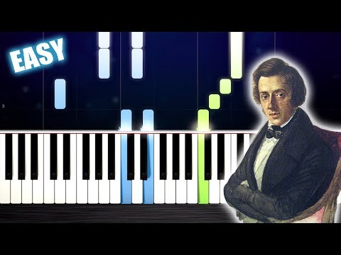 Chopin - Waltz in A minor - EASY Piano Tutorial by PlutaX