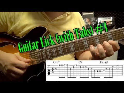 Easy Jazz Guitar Lick (with Tabs) #4