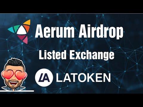 🔴JÁ LISTADO🔴 Ganhe U$12 Dólares no Airdrop Aerum na LAtoken. TEMPO LIMITADO!