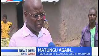 Matungu killings return after months of calm