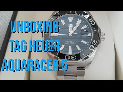 UNBOXING TAG HEUER AQUARACER 5 – BRAND NEW TAG WATCH
