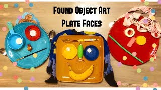 Found Object Art: Plate Faces