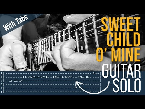 Sweet Child O Mine Guitar Solo Lesson Guns N Roses With Tabs