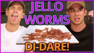 DIY EDIBLE WORMS?! Di Dare w/ the Rhodes Bros