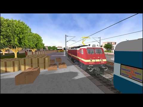 Sabari Express Loco change from WAP 4 to WDP4d at Guntur Junction || Indina Train Simulator