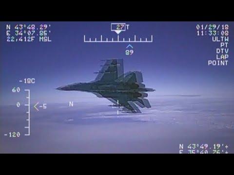 Жуткие» кадры Российский истребитель Су 27 перехватил американский самолет, — ВМС США