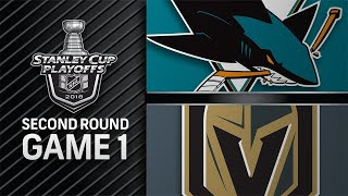 Seven Golden Knights score in Game 1 rout of Sharks